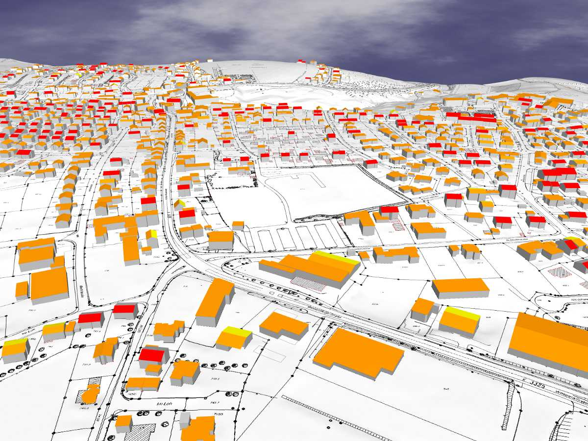 3D-Darstellung Dachformen